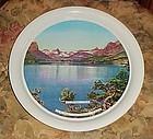 Vintage Glacier National Park aluminum souvenir  tray
