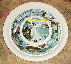 Vintage souvenir aluminum metal tray from Niagara Falls