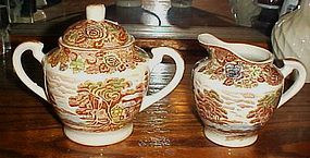 Nasco Mountain Woodland creamer and covered sugar