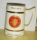 University of Southern California tankard mug USC