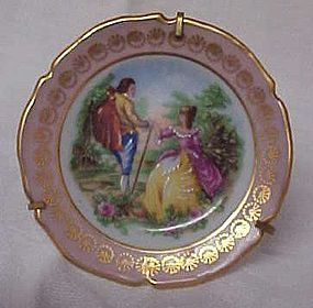Limoges France Miniature plate with stand  2.75""