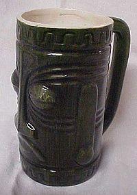 Vintage Westwood green ceramic Tiki Mug R65-C1303
