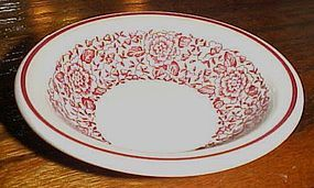 Iroquois china red floral ftransfer ware dessert  bowl
