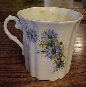 Royal Grafton bone china blue flowers coffee mug cup