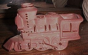 Childs vintage pink ceramic  train toothbrush holder