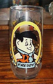 Freddy Flintstone drinking glass premium  Pizza Hut