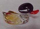 Blown glass miniature mallard duck