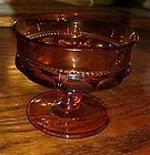 Kings crown amber sherbert dessert glass