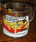McDonalds Garfield glass mug cup Its not a pretty life