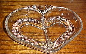 Duncan and Miller Teardrop divided heart relish dish