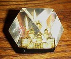 Lucite Capsco souvenir paperweight of Washington DC