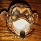 Treasure Craft monkey chimp ashtray Vintage Tiki decor