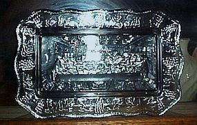 Indiana Tiara Lords Supper smoky blue bread tray