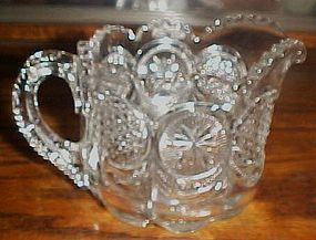 The States Cane and Star medallion creamer US Glass