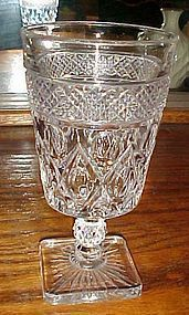 Imperial Cape Cod Water glass 1602 fancy ball cut stem