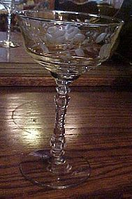 Libbey Rock Sharpe crystal champagne glass 3005-16