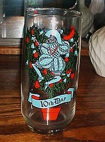 Tenth day of Christmas Pepsi glass Ten Lords a leaping