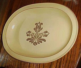 Pfaltzgraff Village large oval turkey platter 15 3/4""