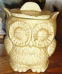 Vintage two sided owl cookie jar