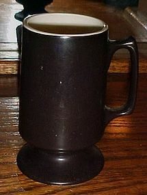 Hall China 1873 chocolate brown coffee mug