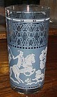 Hazel Atlas  blue and white Arabian Knights tumbler