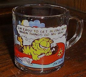McDonalds Garfield cup It's easy to get along with me..