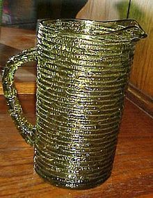 Anchor Hocking Green Soreno  juice beverage pitcher