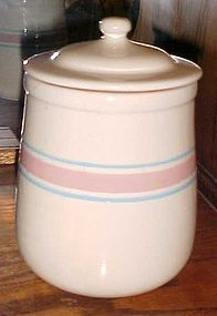 USA Early Farm McCoy pink and blue stripe Med canister