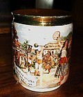 Czech porcelain mug The bartered Bride opera circus