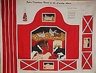 Crafters preprinted apron panel  Red barn with animals