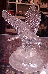 Crystal D'Arques Eagle landing wings spread figurine