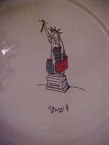 Merry masterpieces political dinner plate TAXi