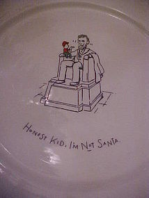 Merry masterpieces dinner plate Honest kid Im not Santa