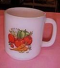Vintage GlasBake vegetable motif mug