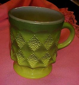 Fire King Kimberly green fade mug