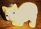 1930's porcelain kitty cat toothbrush holder yellow