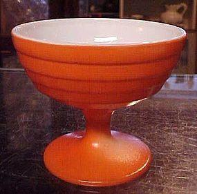 Hazel Atlas Moderntone orange sherbert dessert dish