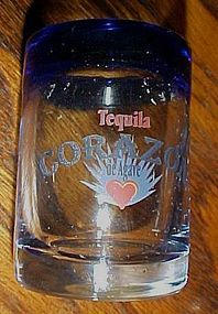 Corazon Tequila hand blown shot glass set of 4 Mexico