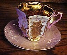 Antique German cabinet cup and saucer LAVISH GOLD