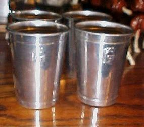 Guardian Wearever aluminum portable bar drink cups