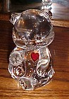 Fenton Birthstone Bear March with ruby heart