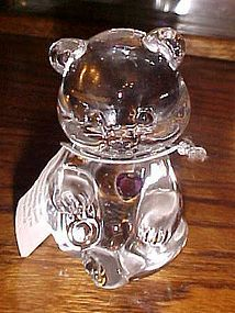 Fenton crystal birthstone bear February Amethyst heart