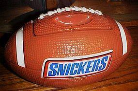 Snickers advertising football shape ceramic cookie jar