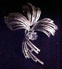 Vintage Emmons silvertone pin, blue stone