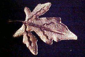 Vintage BSK gold tone maple leaf pin