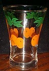 Vintage Federal juice glasses with oranges