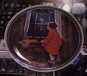 Jessie Wilcox Smith Christmas plate by Knowles