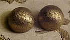 Brushed gold Bergere half ball Runway clip earrings