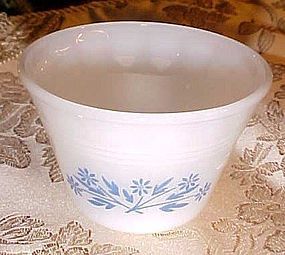 Dyna ware blue Floer pattern custard bowl cup