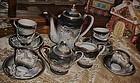 Vintage demitasse dragon ware tea set with lithopane